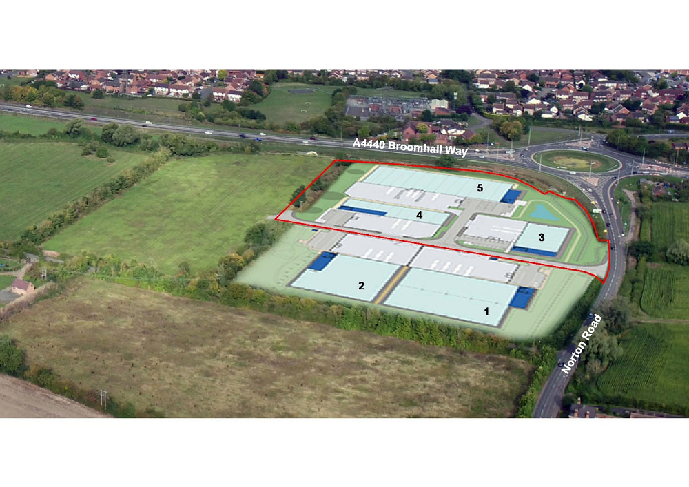 Business park application has three extra units