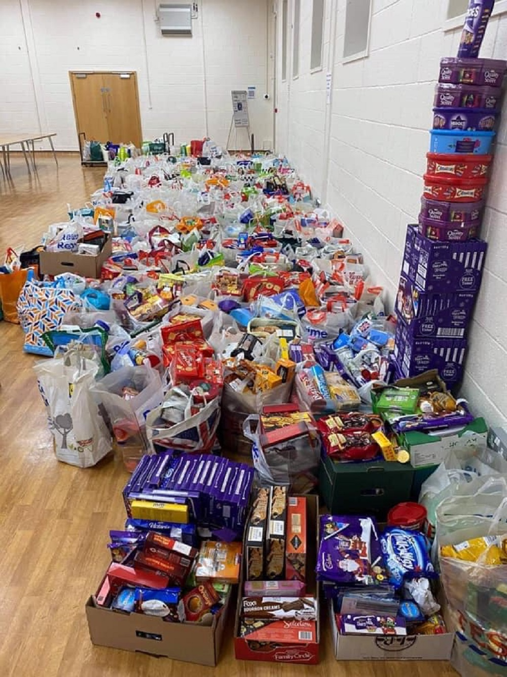 Foodbank collectors staggered by the generosity of residents