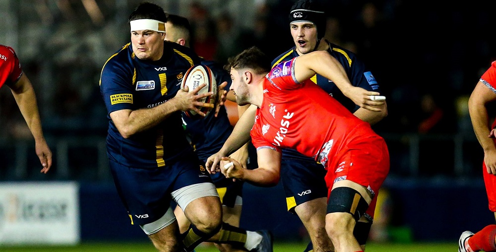 Ryan Bower makes 100th appearance for Worcester Warriors against Dragons