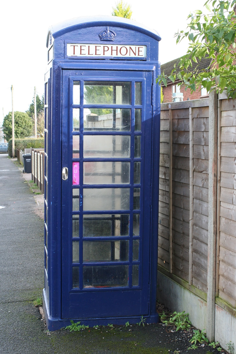 Mystery of blue phonebox in village solved