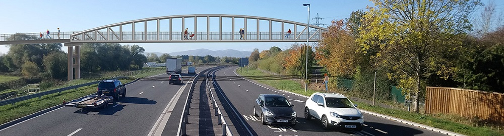 Installation work to begin this month for new Broomhall Way footbridge over Southern Link Road