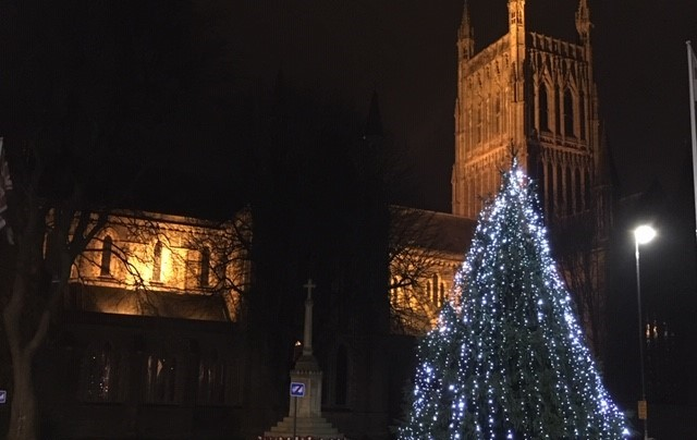 Christmas lights switch-on signals start of festive season in Worcester