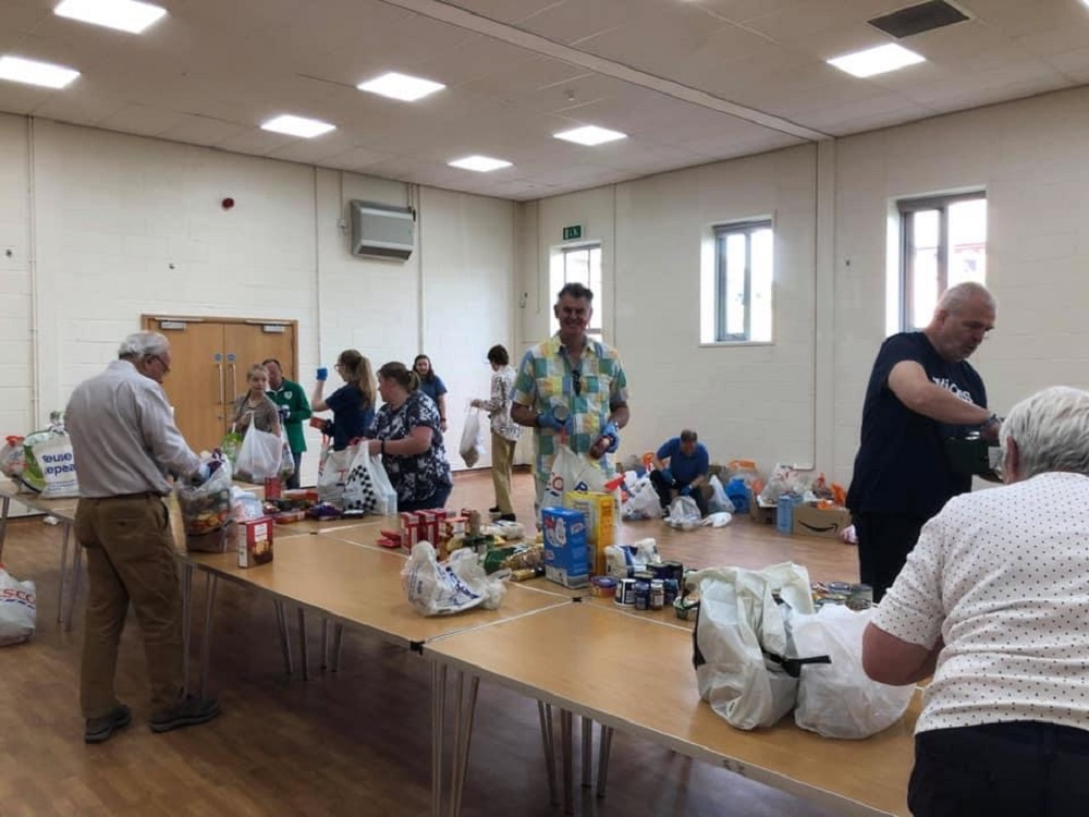 St Peter's collections for Worcester Foodbank to go monthly