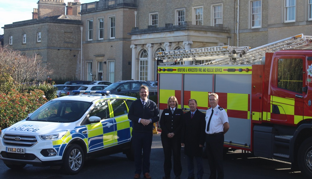 Fire and rescue service staff sharing headquarters with police