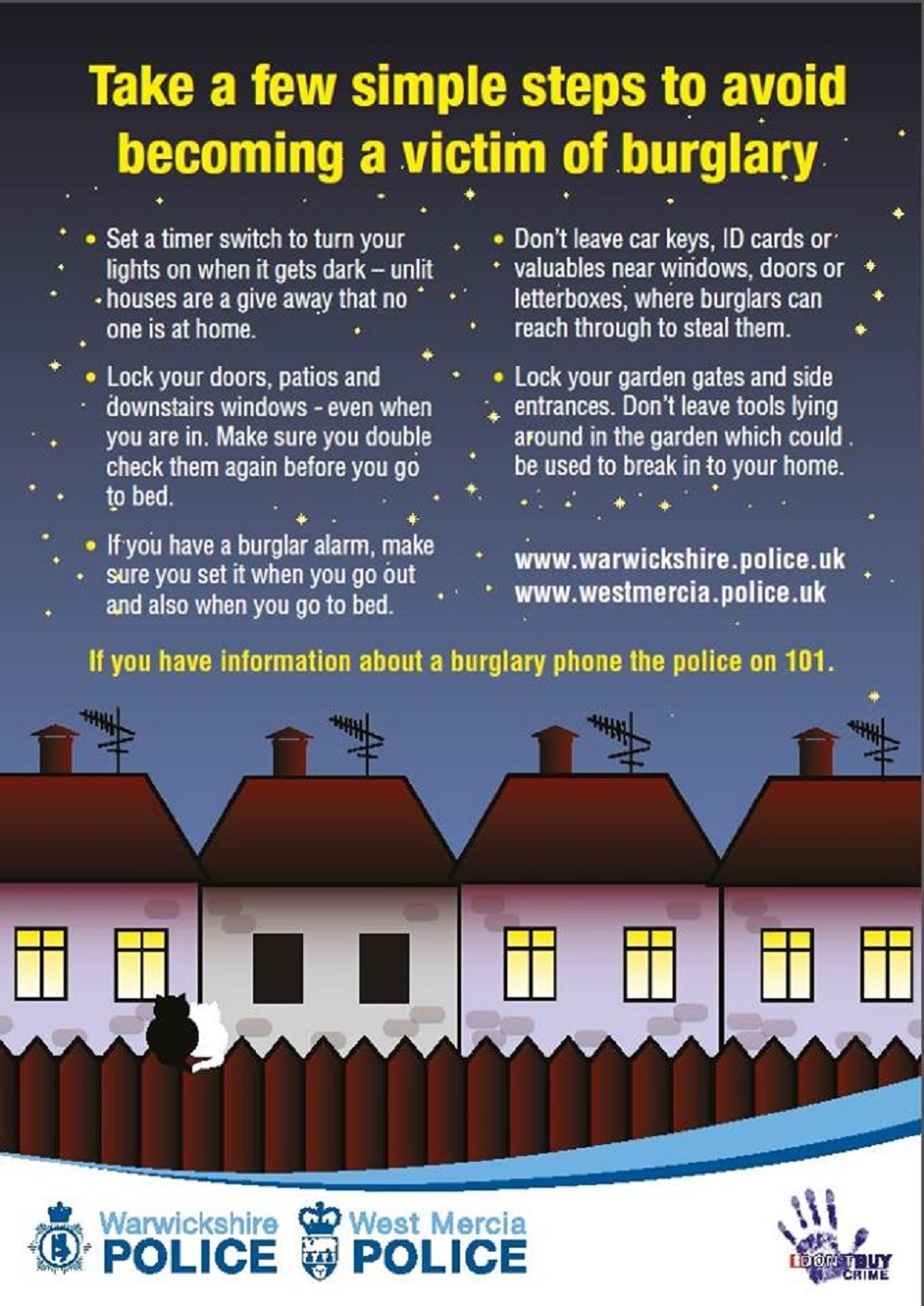 Police issue advice to foil burglars in darker evenings